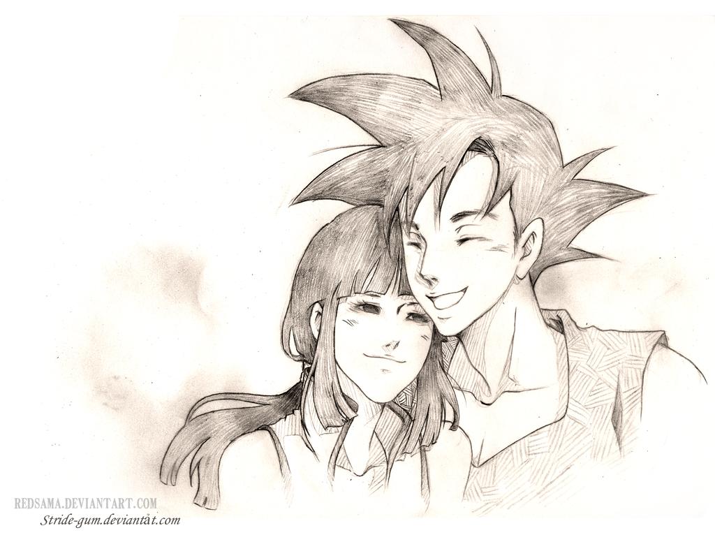 Commission - Goku Chichi by redsama