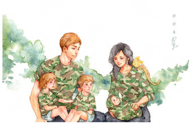 [TWINS] Military family by redsama