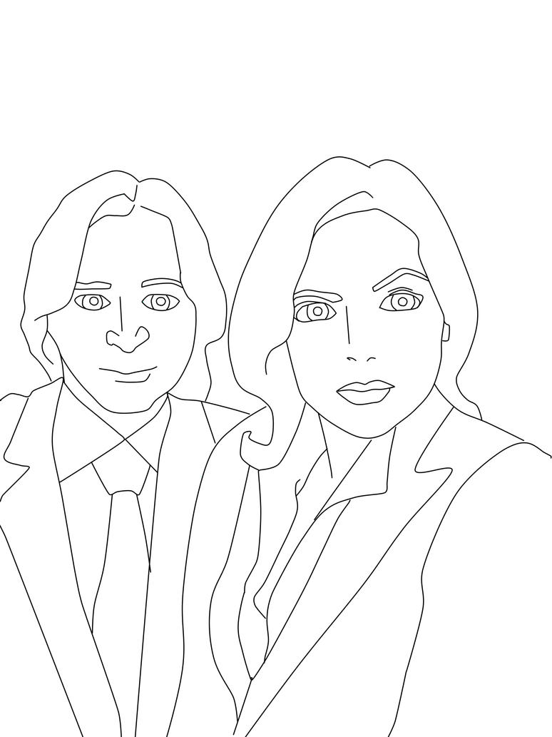 Coloring Page #10 move over Mulder and Scully by krypton619
