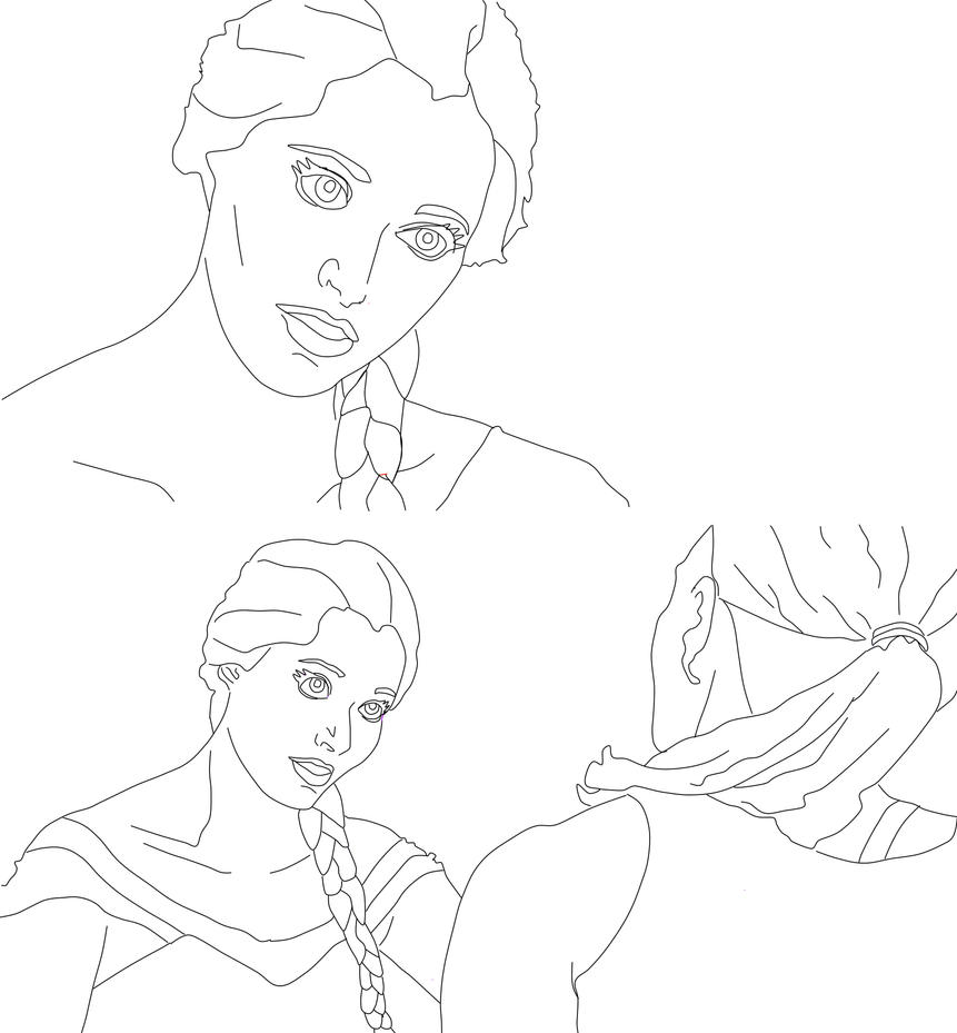 Coloring Page #15  Elsa ships it by krypton619