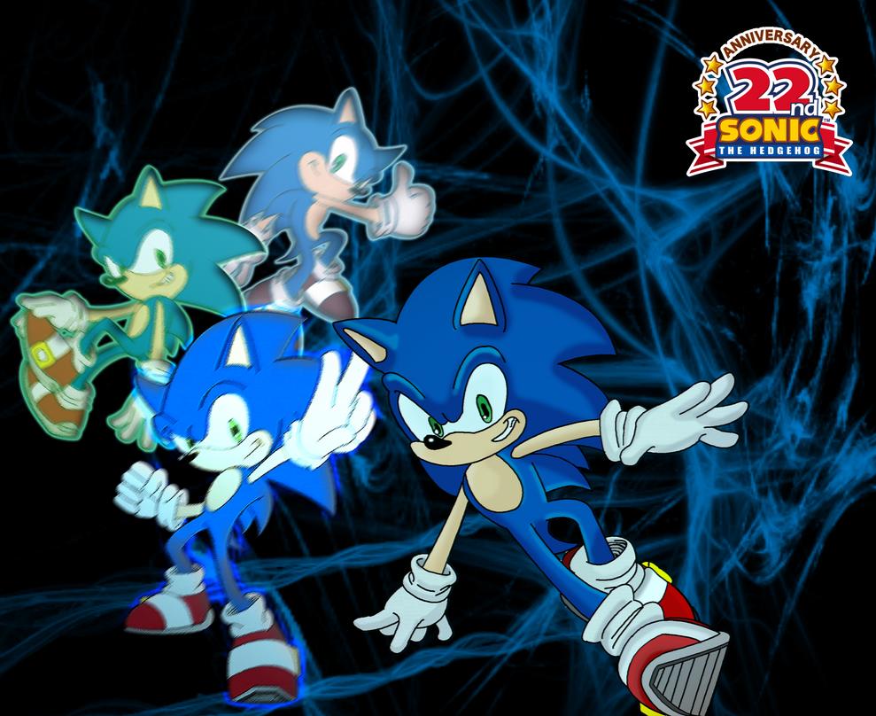 Sonic 22nd Anniversary by MangaFreak17