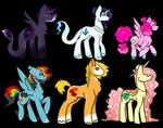 MLP Mane 6 Redesign for AU by a-x-o