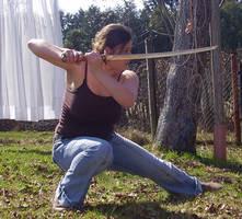 Katana Kneeling Sideview by sketchyJude