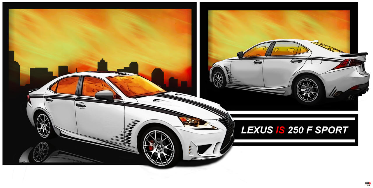 lexus is 250 f sport 1 by rossmj on deviantart. Black Bedroom Furniture Sets. Home Design Ideas