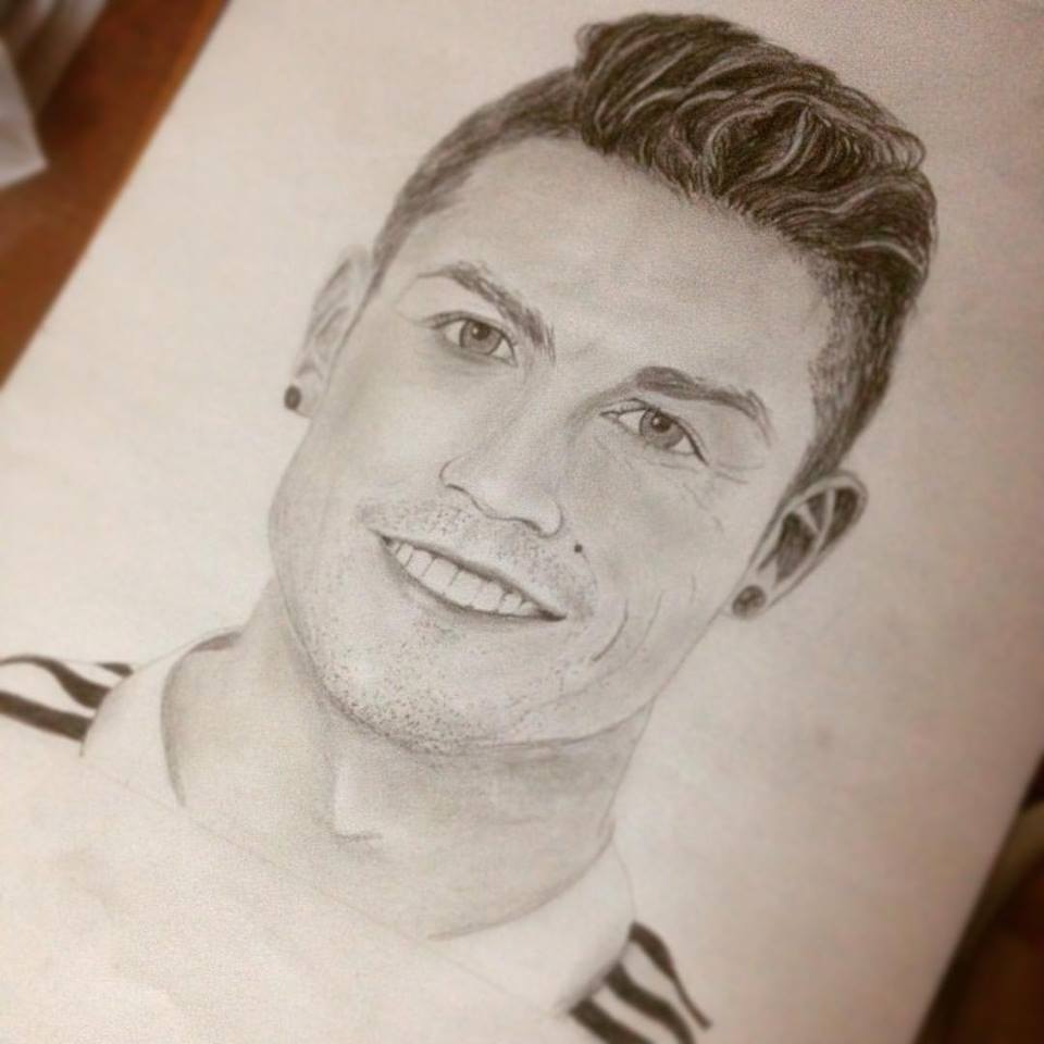 Cristiano Ronaldo Drawing By Tanmayc7 On Deviantart