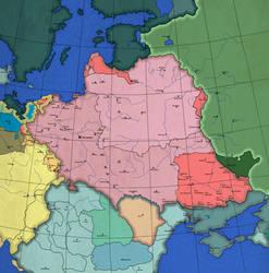 Granice po pokoju Galackim 1688 (ahistoryczna)