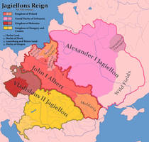 Jagiellons Reign in year 1500