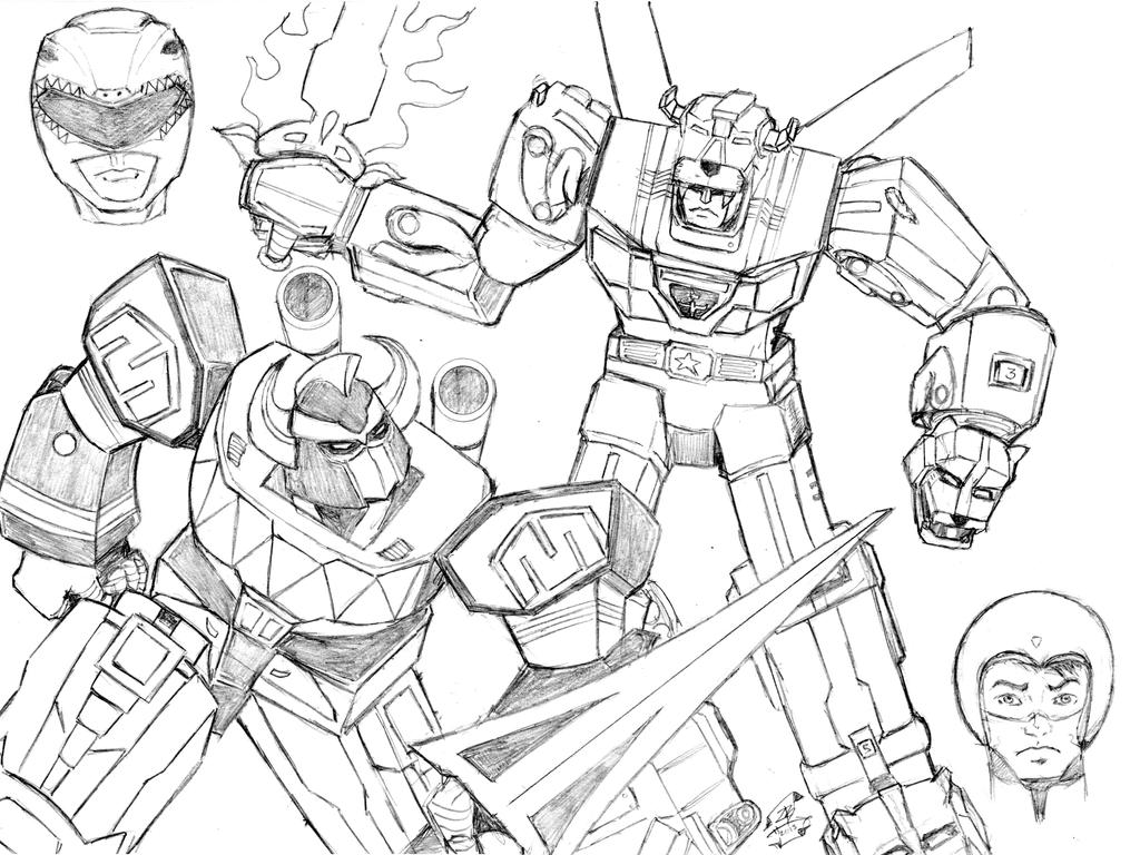 Voltron Legendary Defender In Coloring Pages: Voltron Power Rangers Coloring Sheets Together And On