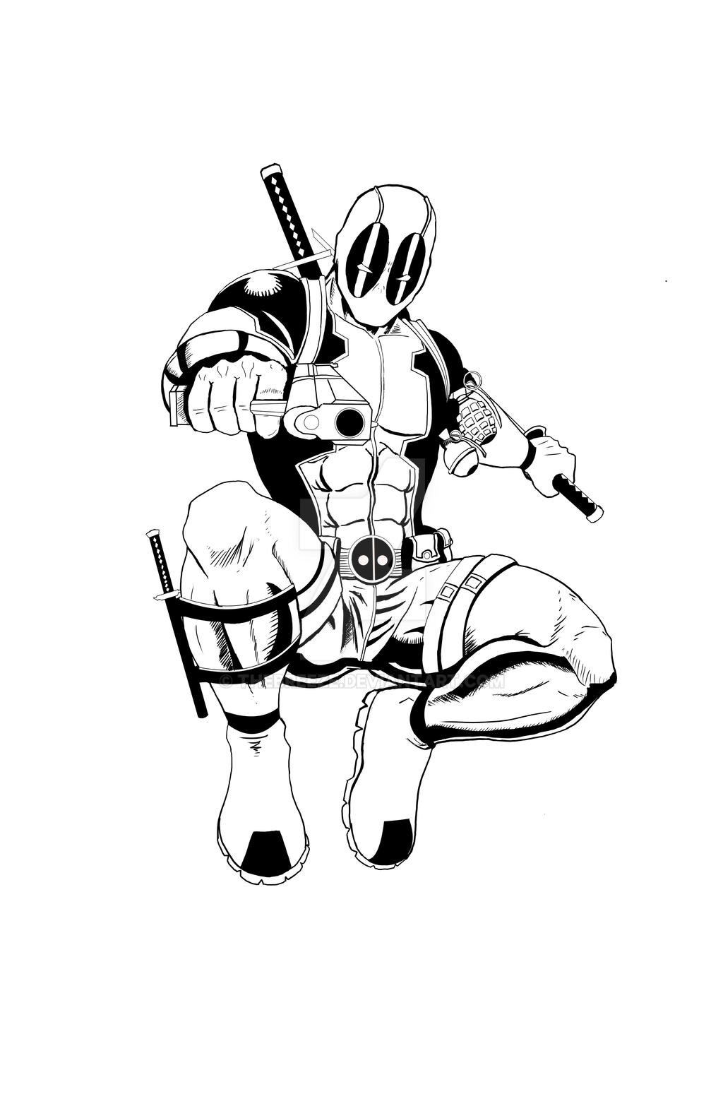 Deadpool Print digital inks by thEbrEEze