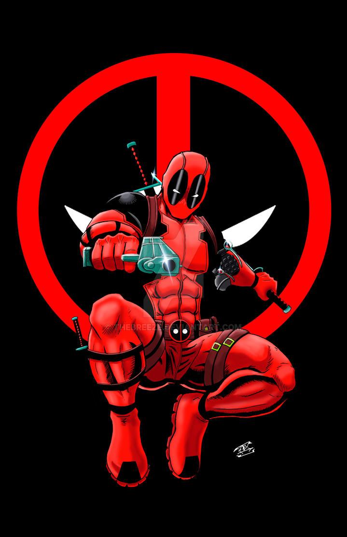 Deadpool Print Logo Version By ThEbrEEze