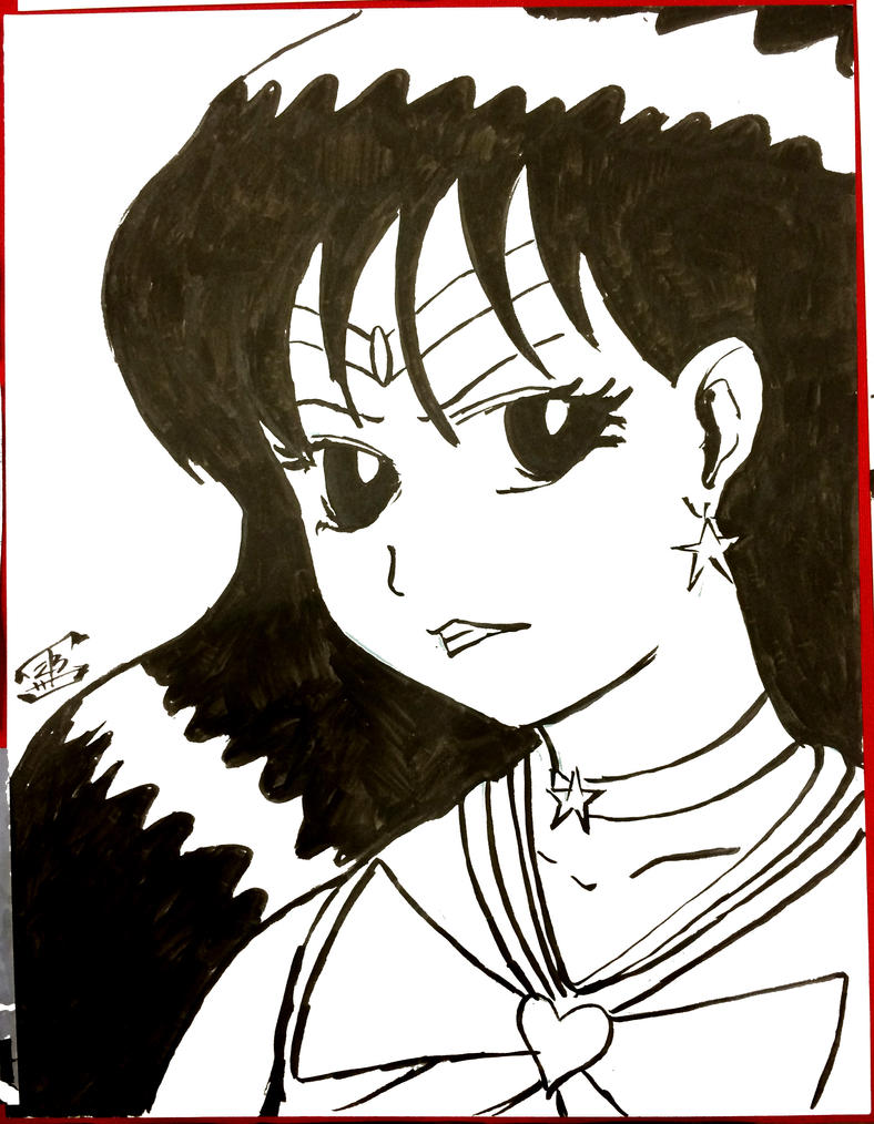 Sailor Mars ink commission by thEbrEEze