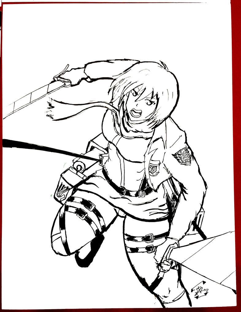 Mikasa Akerman by thEbrEEze