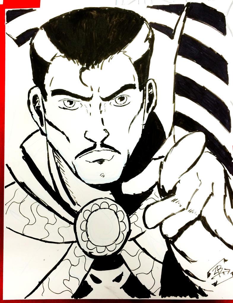 Dr. Strange Ink Commission by thEbrEEze