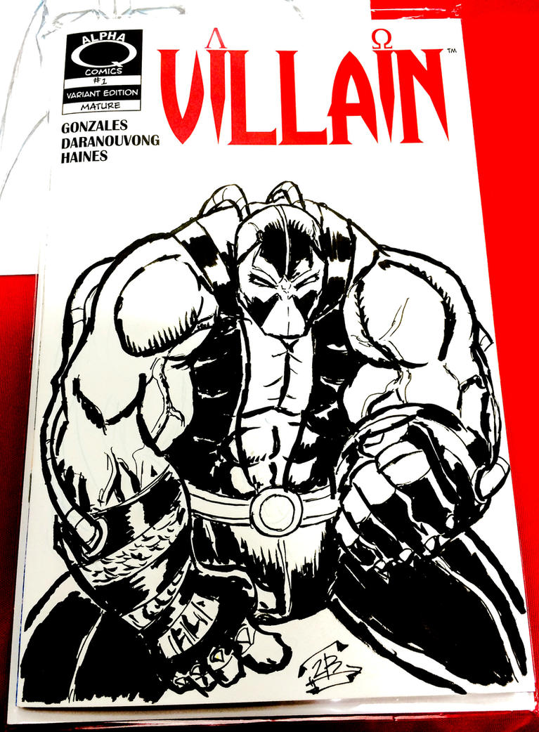 Bane on Villain blank sketch cover by thEbrEEze