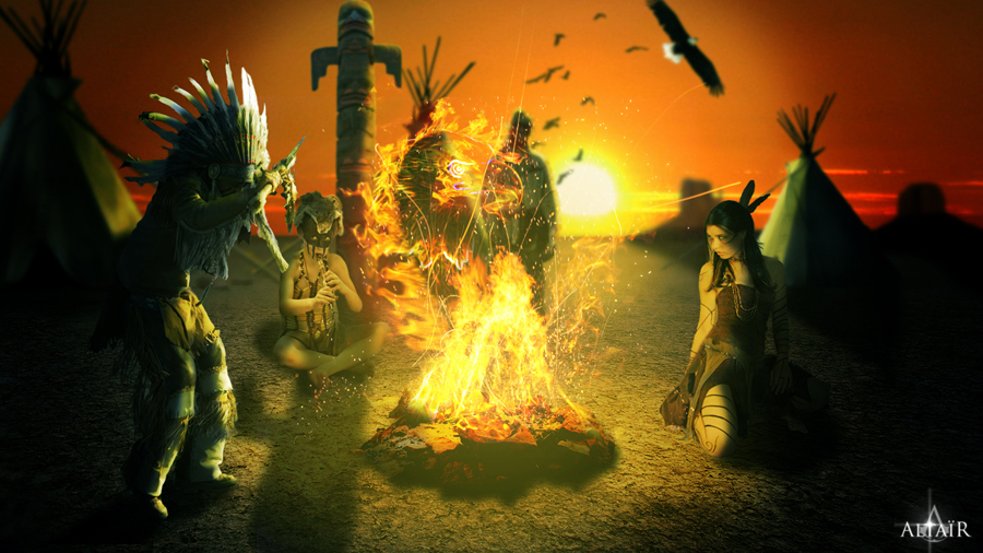 Native American incantation by Altair-E