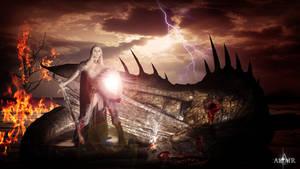 Kill the dragon by Altair-E