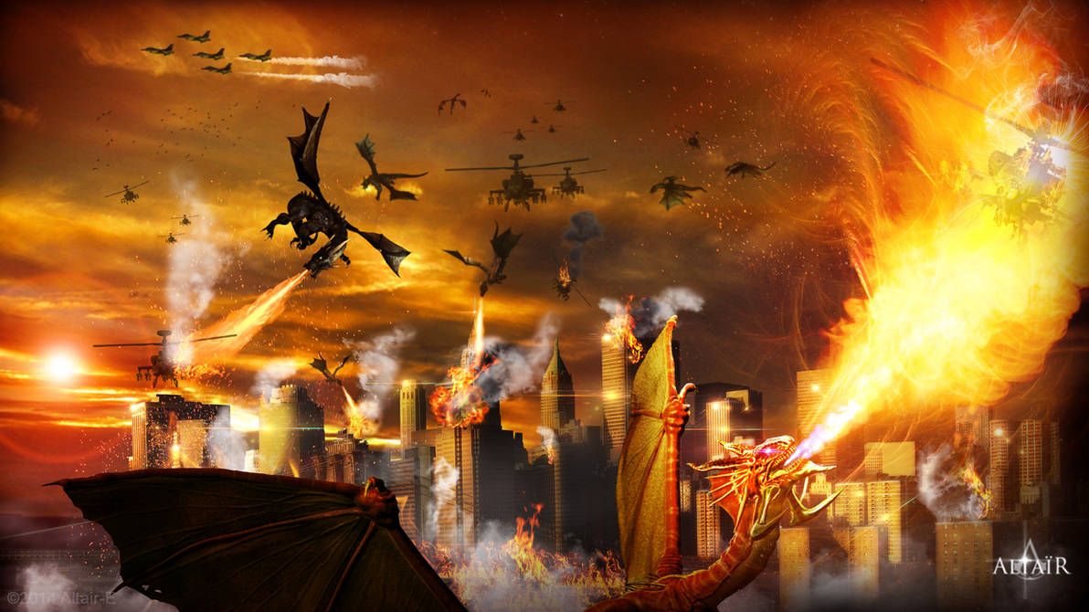 Dragons Attack - Run if you can by Altair-E