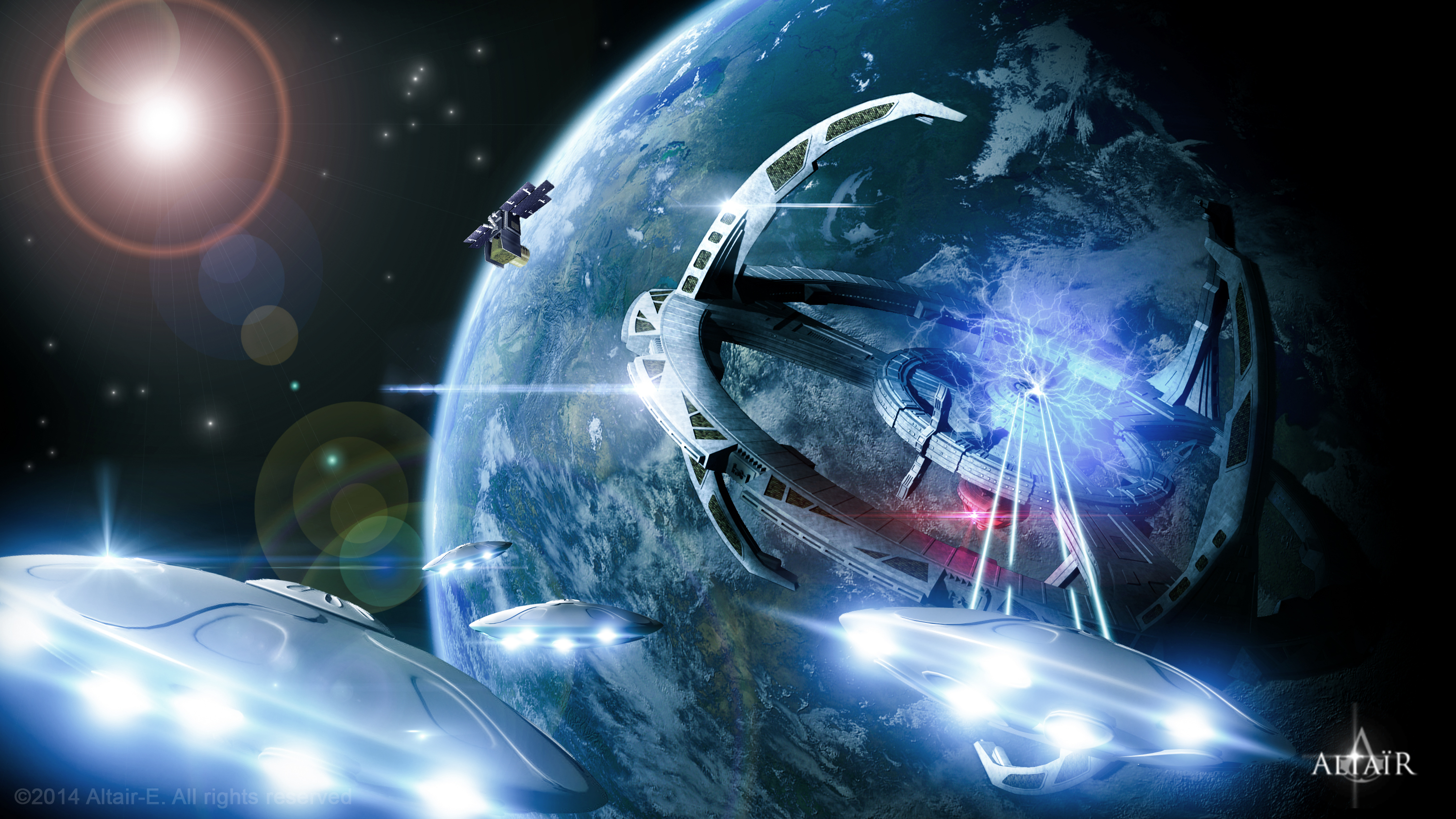 Attack of the Earth by Altair-E