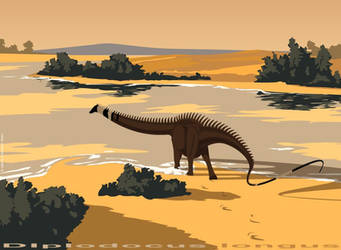 Diplodocus longus by nyctopterus