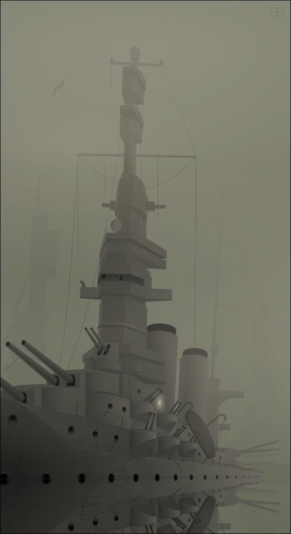 Sunken Battleship by nyctopterus