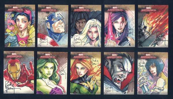 Marvel Cards Pt 2 by RandyGreen