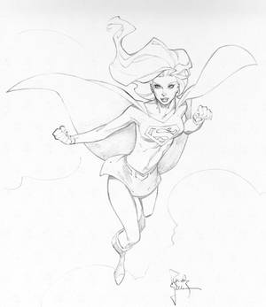 Supergirl Con Sketch