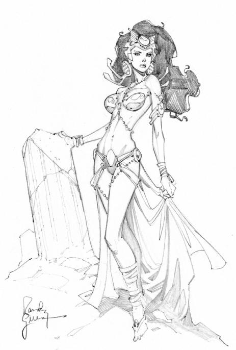 Dejah Thoris con sketch 2 by RandyGreen