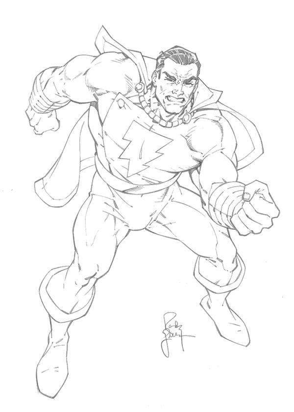 Shazam Coloring Pages Sketch Coloring Page