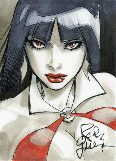 Vampirella card by RandyGreen