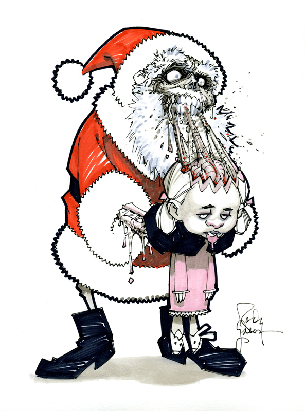 Zombie Santa 2009 by RandyGreen