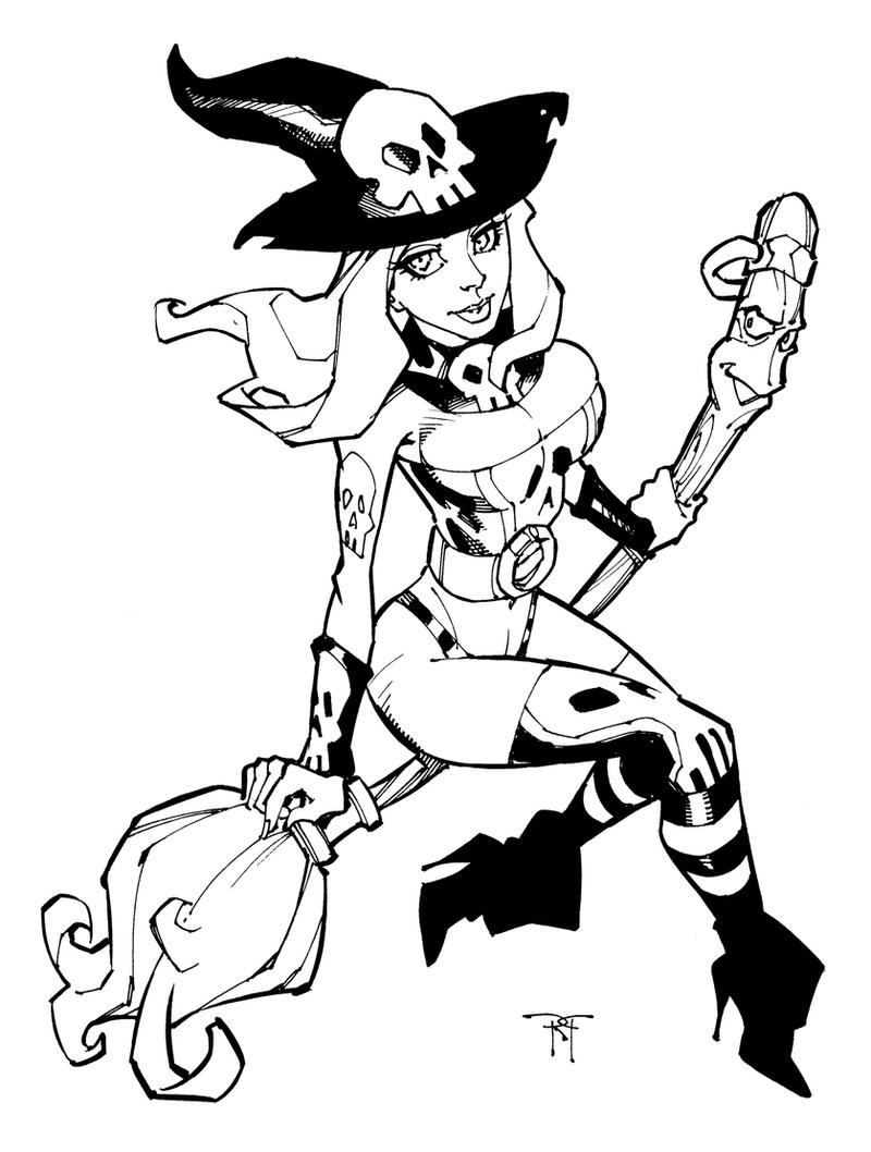 Witchie Boo inks by RandyGreen