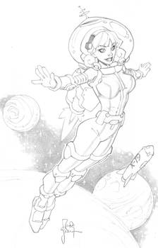 Space Girl from VA Comicon