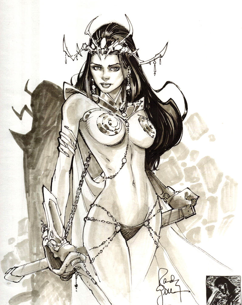 Dejah Thoris Sketch by RandyGreen