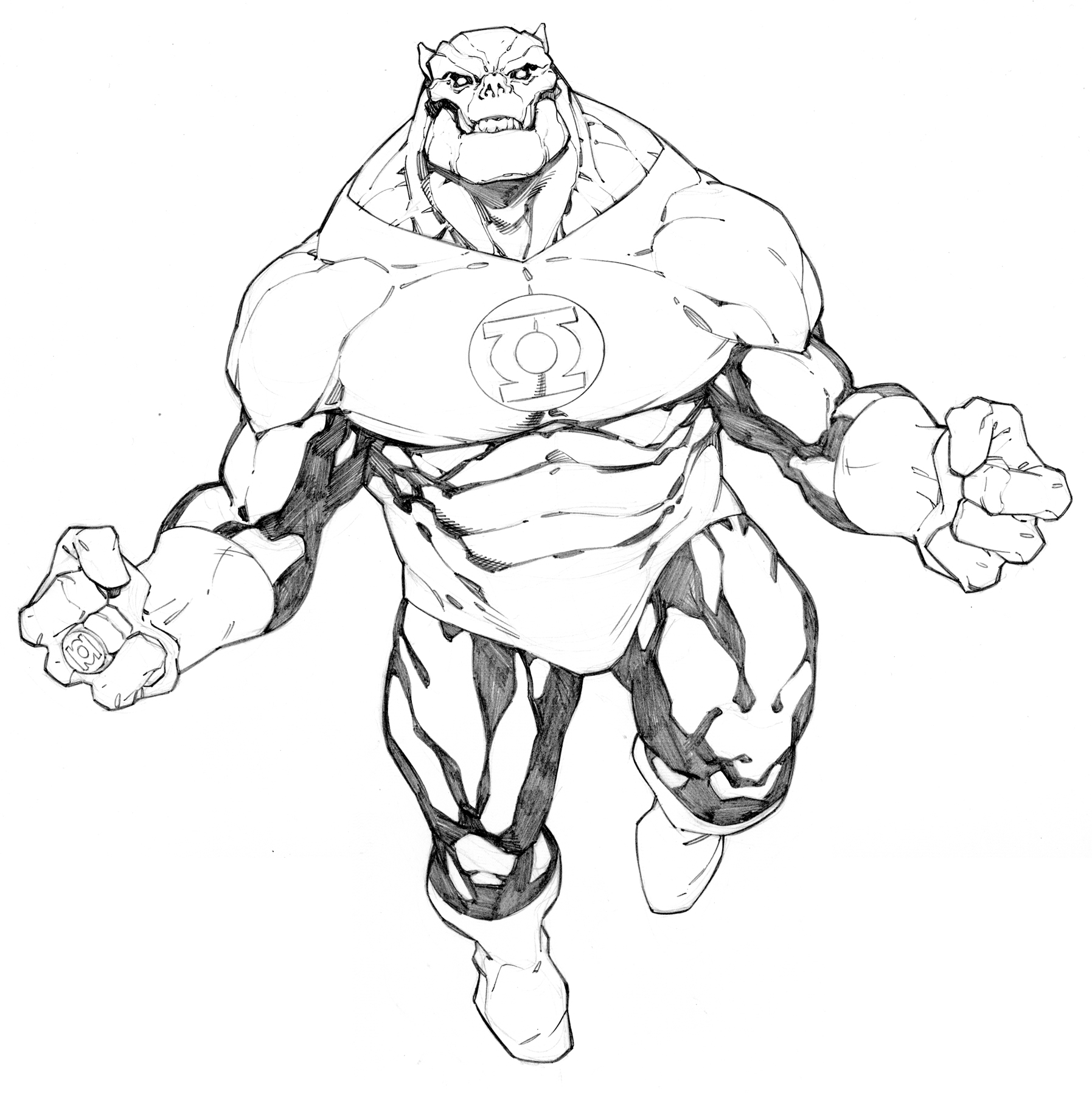 Kilowog Green Lantern By Randygreen On Deviantart Green Lantern Coloring Page