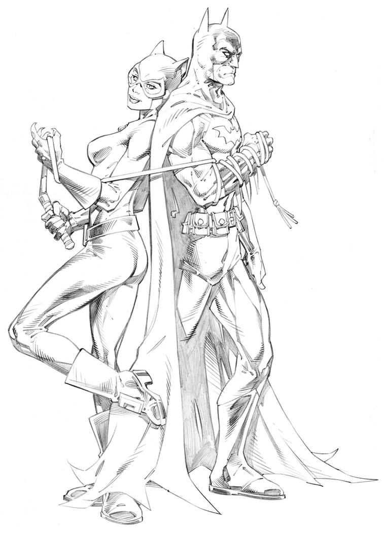 batman and catwoman by randygreen on deviantart