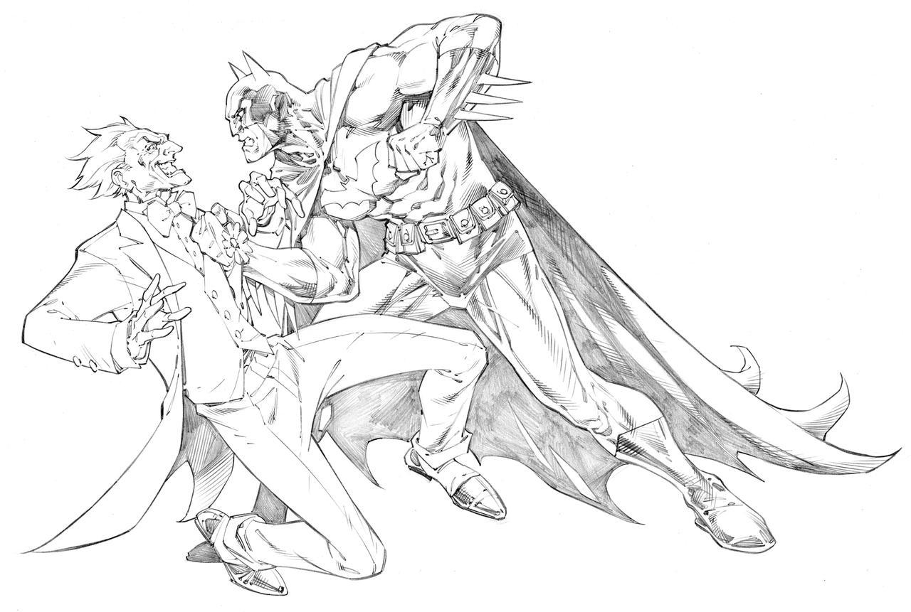 Batman and joker by randygreen on deviantart - Comment dessiner joker ...