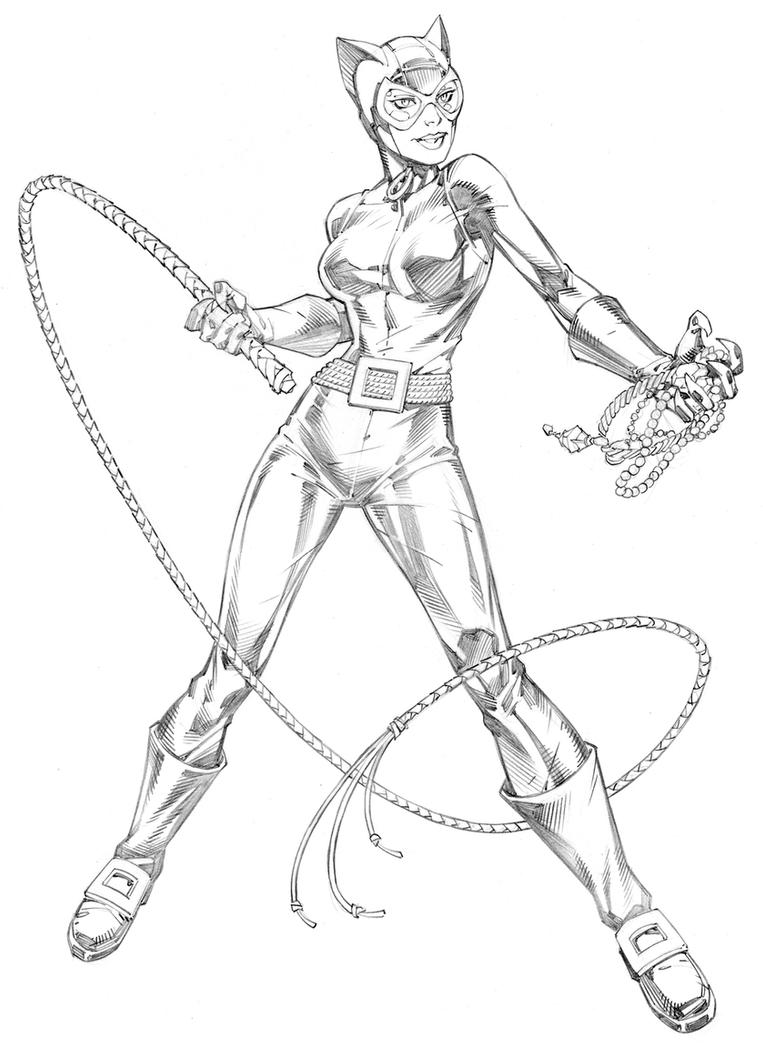 catwoman cartoon coloring pages - photo#29