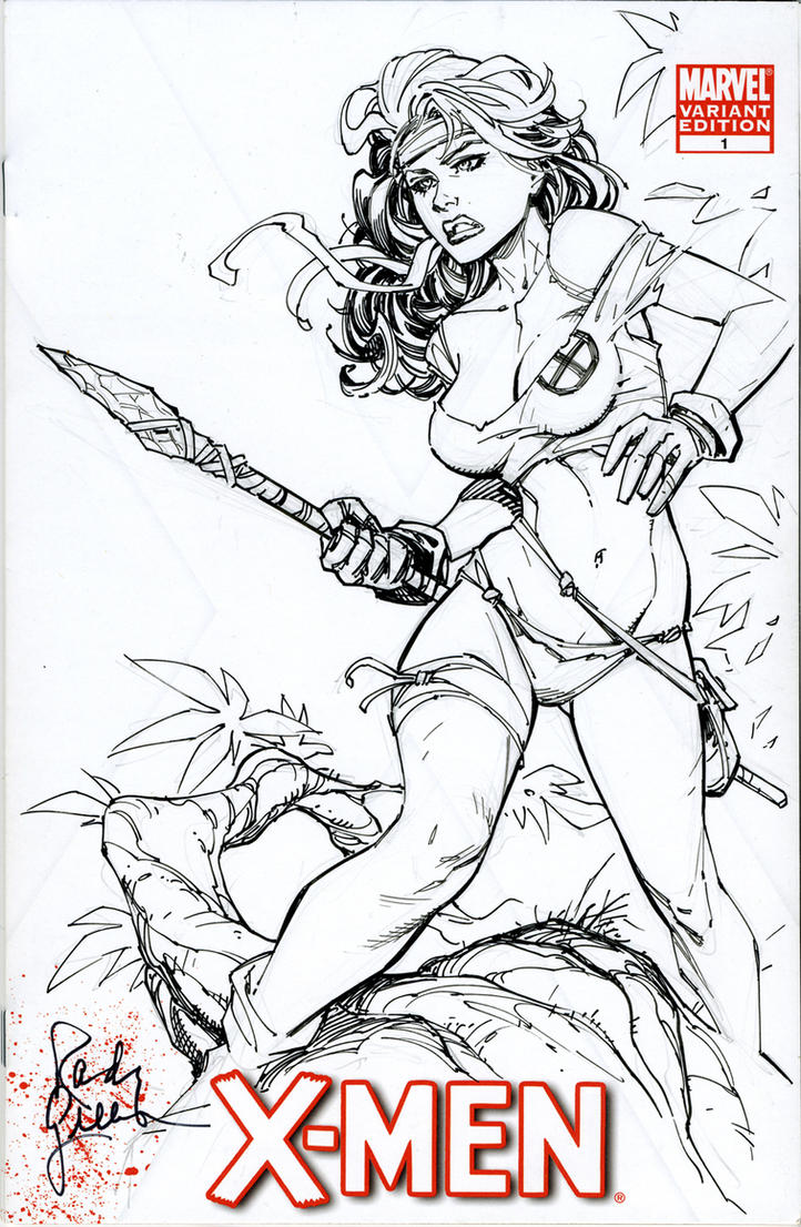 Savage Land Rogue Sk Cvr by RandyGreen