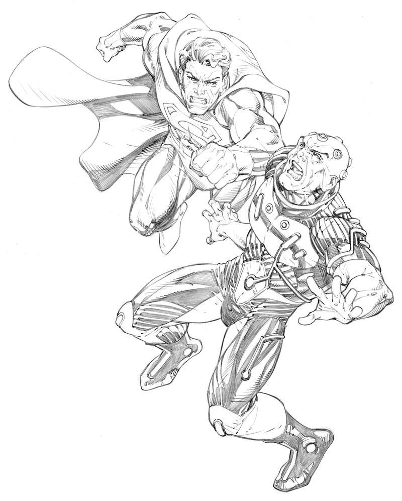 Superman Vs Brainiac By RandyGreen On DeviantArt Randygreen D72ajmt 427114469 Coloring Pages New 52