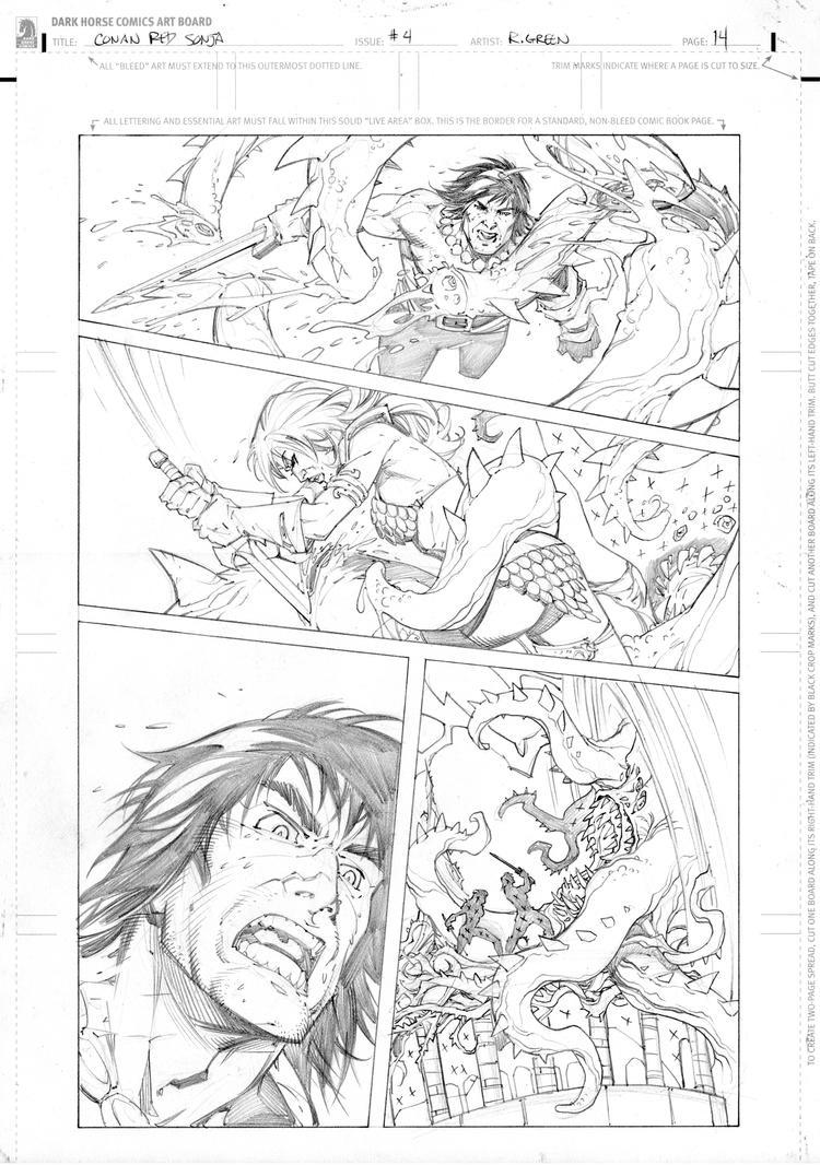 Conan vs Red Sonja page 4 by RandyGreen
