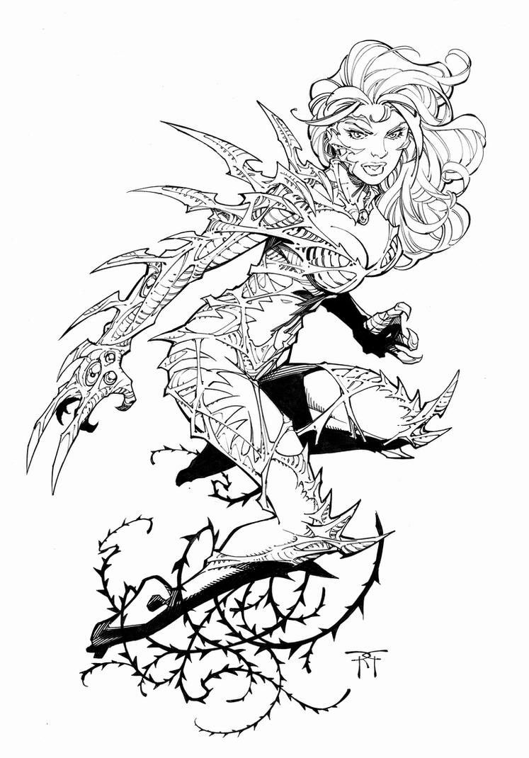 Witchblade Commish for Christmas by RandyGreen