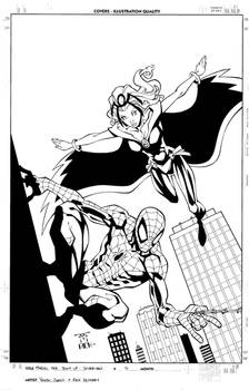 Storm and Spiderman Cover
