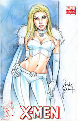 Emma Frost Sketch Cover 3 by RandyGreen