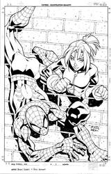 Spiderman and Kitty Pryde by RandyGreen