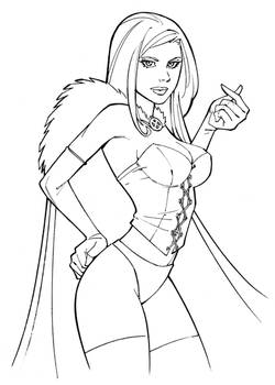 White Queen Line Art