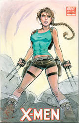 X-23 Lara Croft Cover Sketch