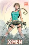 X-23 Lara Croft Cover Sketch