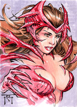 Scarlet Witchblade Sketch Card