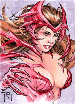 Scarlet Witchblade Sketch Card