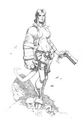 Hellgirl by RandyGreen